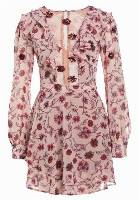For Love & Lemons AGNES MINI DRESS Sukienka koktajlowa soft rose