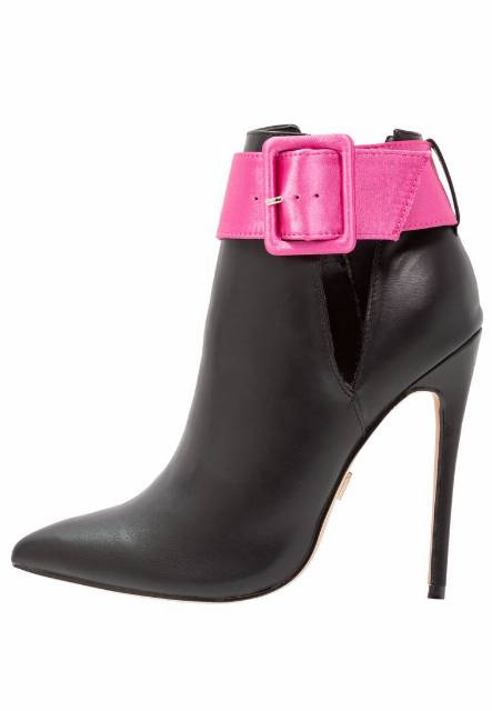 Lost Ink NOLA STRAP STILETTO Botki na obcasie black