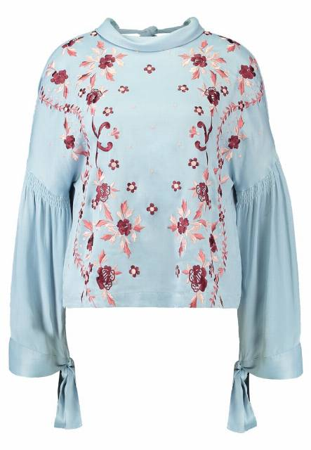 Topshop Bluzka light blue