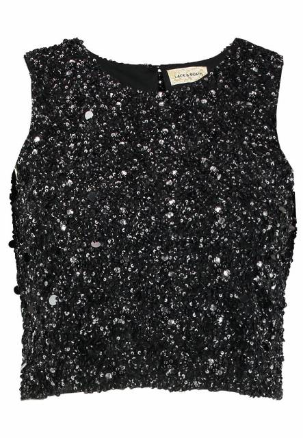 Lace & Beads PICASSO Top black