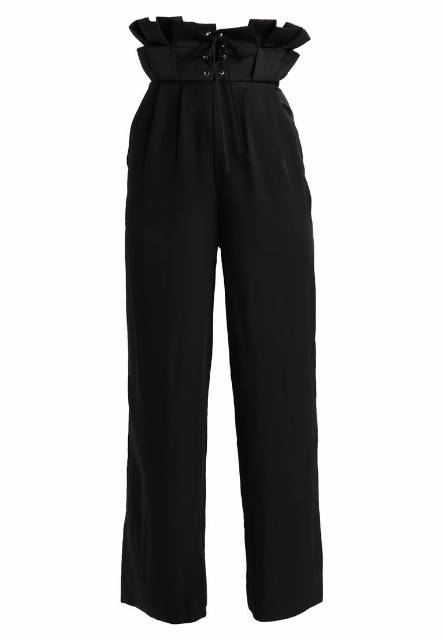 Lost Ink SCULPTED WAIST TAILORED TROUSER Spodnie materiałowe black