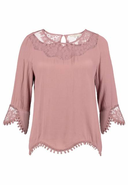 Cream KALANIE BLOUSE Bluzka old rose