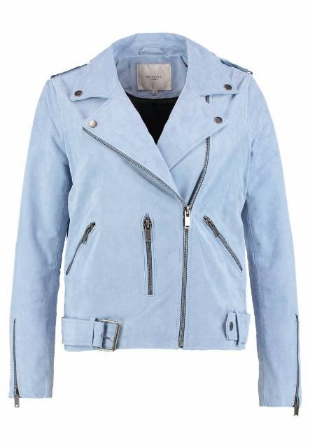 Selected Femme SFSANELLA JACKET Kurtka skórzana skyway