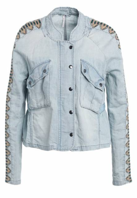 Free People Kurtka jeansowa blue