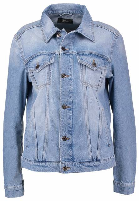 Un Jean LORENA Kurtka jeansowa light blue denim