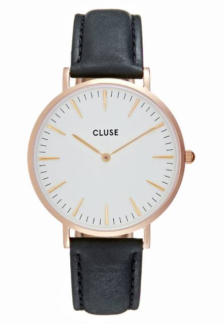 Cluse LA BOHÈME Zegarek rose goldcoloured/white/black