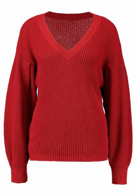 Cream ANNABELL Sweter american beauty red