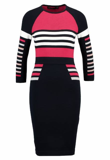 Karen Millen BLOCK COLLECTION Sukienka dzianinowa multicolour
