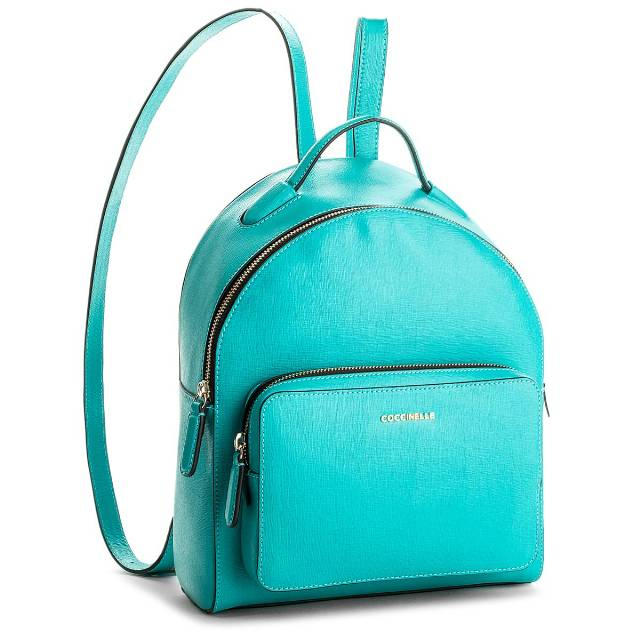 Plecak COCCINELLE - BF5 Clementine E1 BF5 14 01 02 Turquoise 028