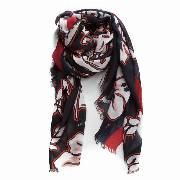 Chusta TOMMY HILFIGER - Tropical Floral Prin AW0AW05482  902