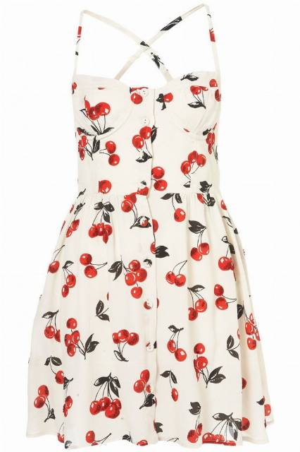 TOPSHOP Sundress Cherry Britter