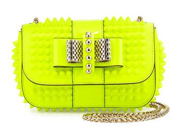 Christian Louboutin_Sweet Charity Small Torba Crossbody, Neon Yellow
