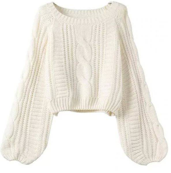 Puff Sleeve Knit Sweter