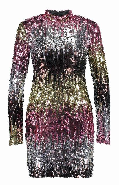 GO OMBRE SEQUIN DRESS Sukienka koktajlowa multi
