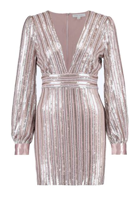 SEQUIN DEEP V DRESS Sukienka koktajlowa