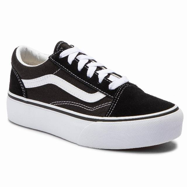 Tenisówki VANS - Old Skool Platfor VN0A3TL36BT1 Black/True White