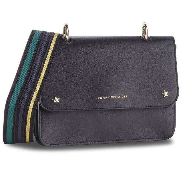 Torebka TOMMY HILFIGER - Tommy Leather Crosso AW0AW05723 002
