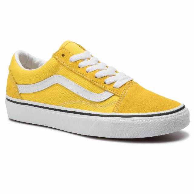 Tenisówki VANS - Old Skool VN0A4BV5FSX1 Vibrant Yellow/True White