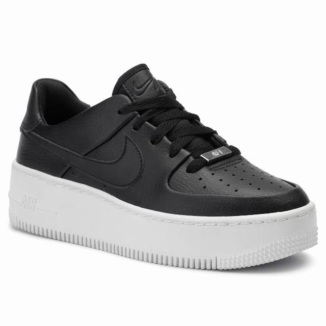 Buty NIKE - Af1 Sage Low AR5339 002 Black/Black/White