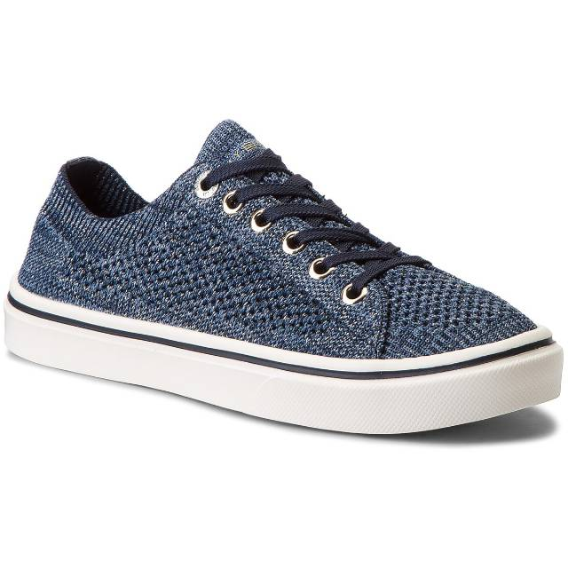 Tenisówki TOMMY HILFIGER - Knitted Light Weight Lace Up FW0FW03362  Midnight 403