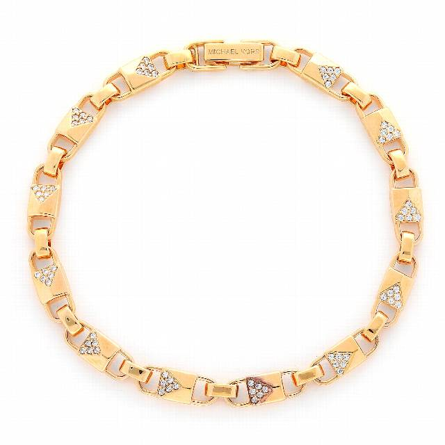 Bransoletka MICHAEL KORS - Precious Metal-Plated Sterling Silver Pavé Mercer Link Bracelet MKC1004AN791 Gold