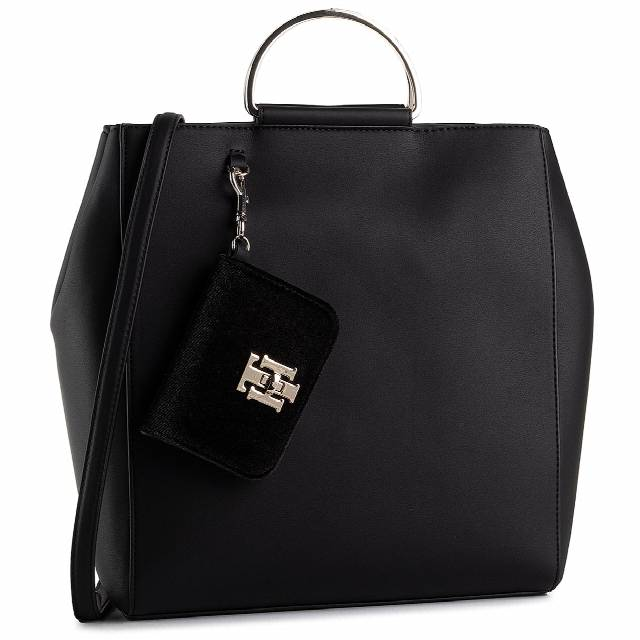 Torebka TOMMY HILFIGER - Th Lock Ns Tote AW0AW08097 BDS