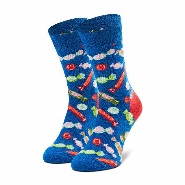 Skarpety Wysokie Unisex HAPPY SOCKS - CAN01-6300 Niebieski