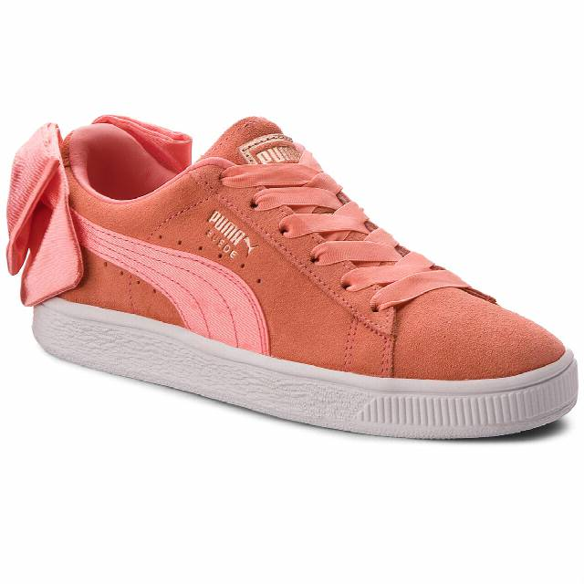 Sneakersy PUMA - Suede Bow Jr 367316 01 Shell Pink/Shell Pink