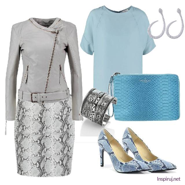 Gray and blue