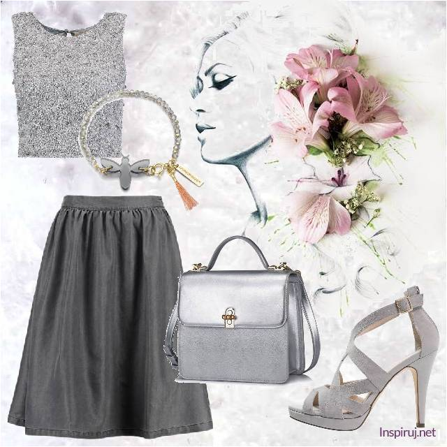 Silver and gray