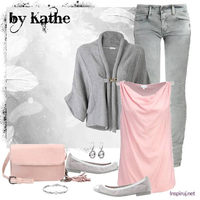 Light grey and rose