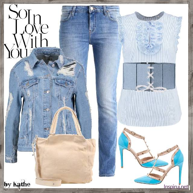 Total Blue Denim Look