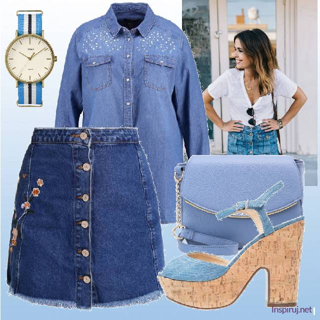 Total denim look