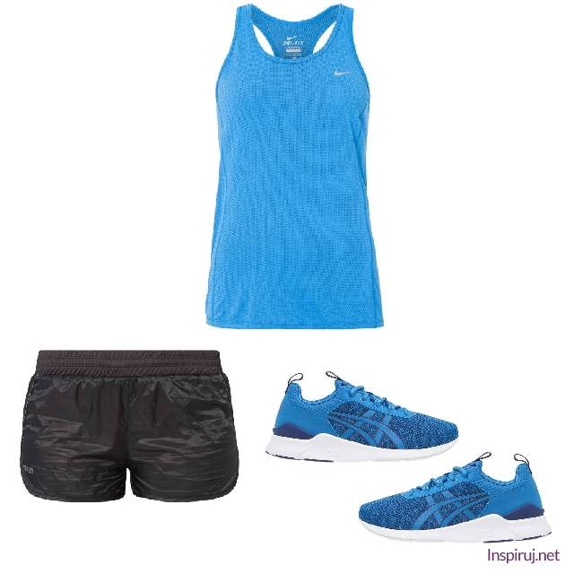 Blue and black running